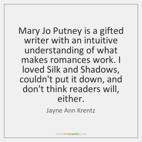 Mary Jo Putney is a gifted writer with an intuitive understanding of ...