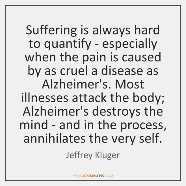 Suffering is always hard to quantify - especially when the pain is ...