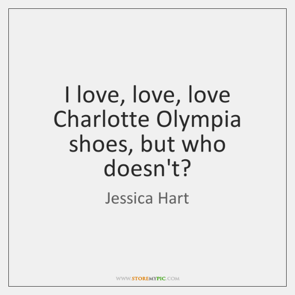 I love, love, love Charlotte Olympia shoes, but who doesn't?