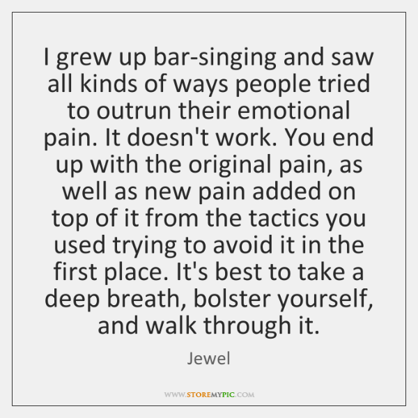 I grew up bar-singing and saw all kinds of ways people tried ...