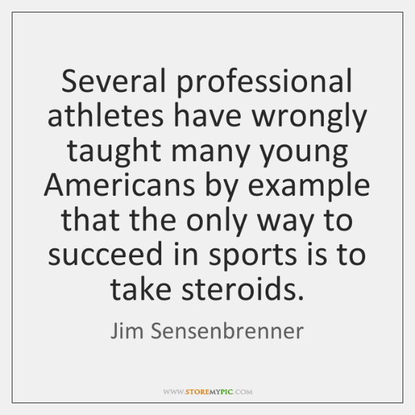 Several professional athletes have wrongly taught many young Americans by example that ...