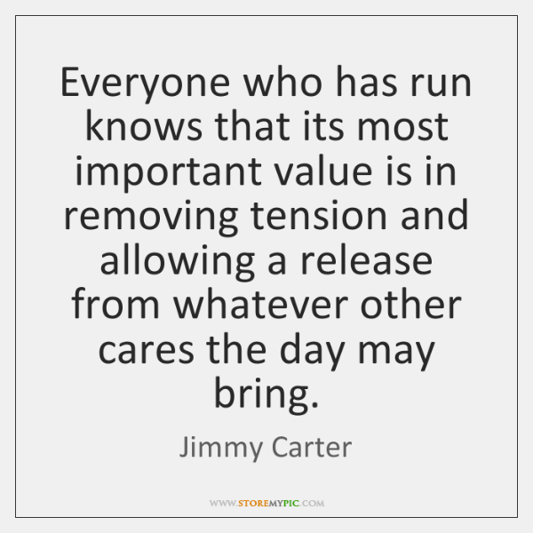 Everyone who has run knows that its most important value is in ...