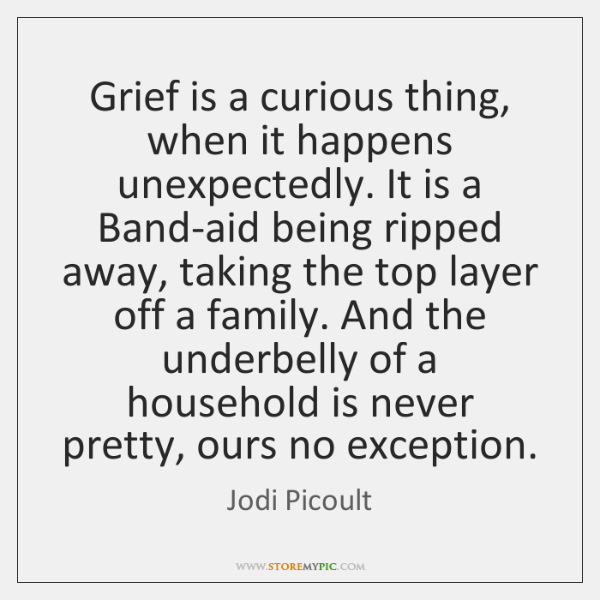 Grief is a curious thing, when it happens unexpectedly. It is a ...