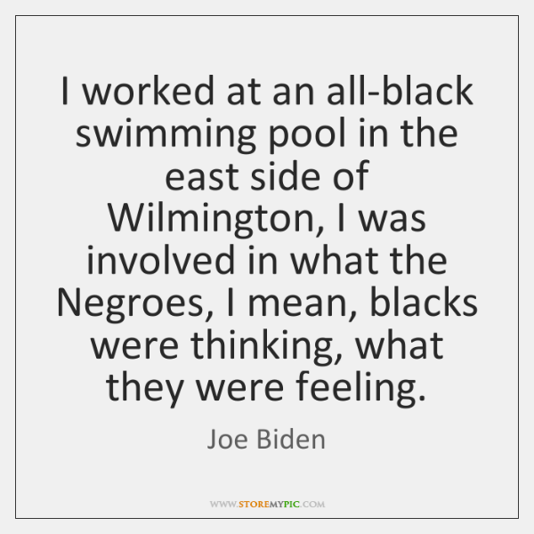 I worked at an all-black swimming pool in the east side of ...
