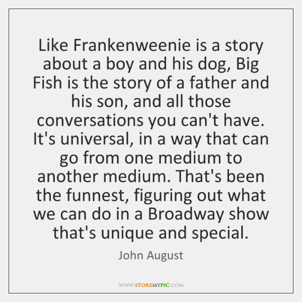 Like Frankenweenie is a story about a boy and his dog, Big ...