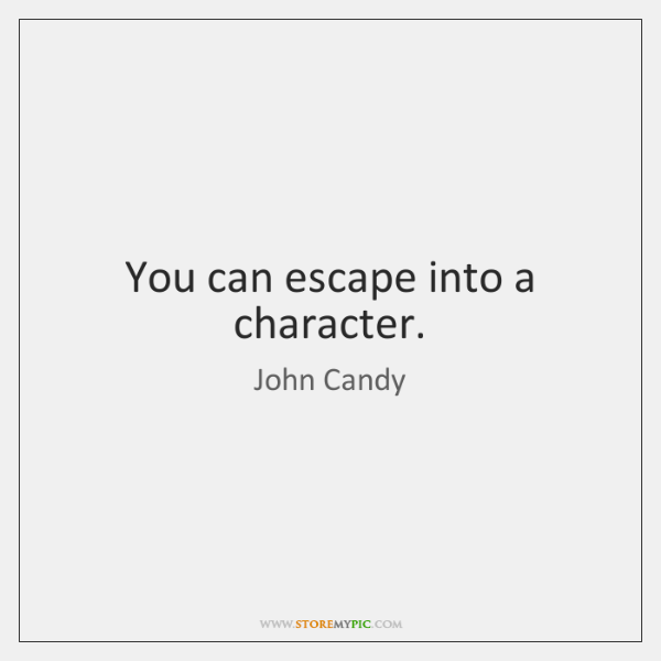 You can escape into a character.