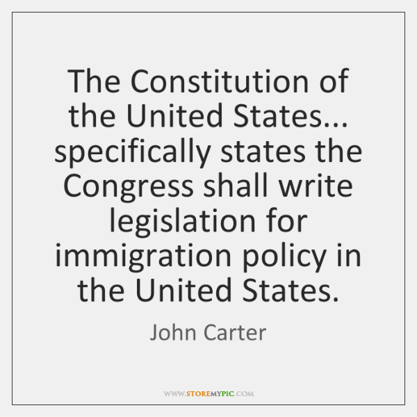 The Constitution of the United States... specifically states the Congress shall write ...