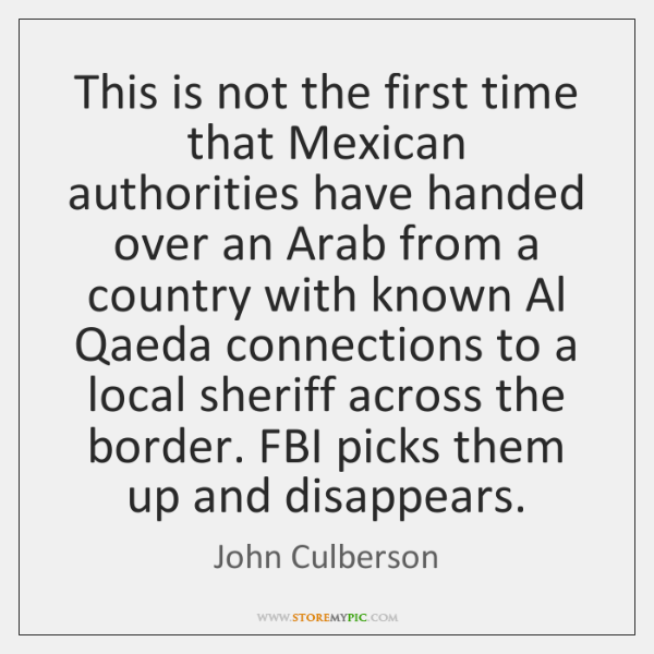 This is not the first time that Mexican authorities have handed over ...