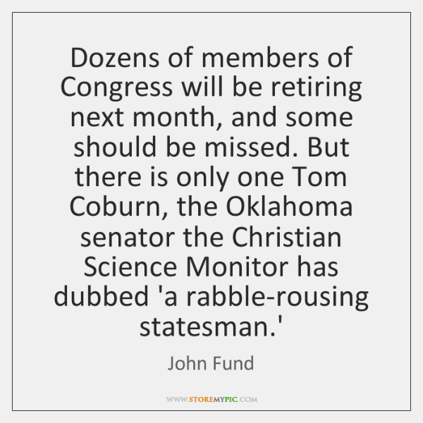 Dozens of members of Congress will be retiring next month, and some ...