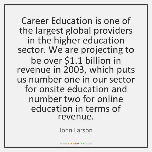 Career Education is one of the largest global providers in the higher ...