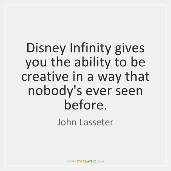 Disney Infinity gives you the ability to be creative in a way ...