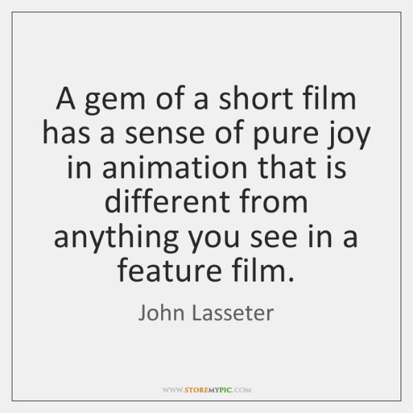 A gem of a short film has a sense of pure joy ...