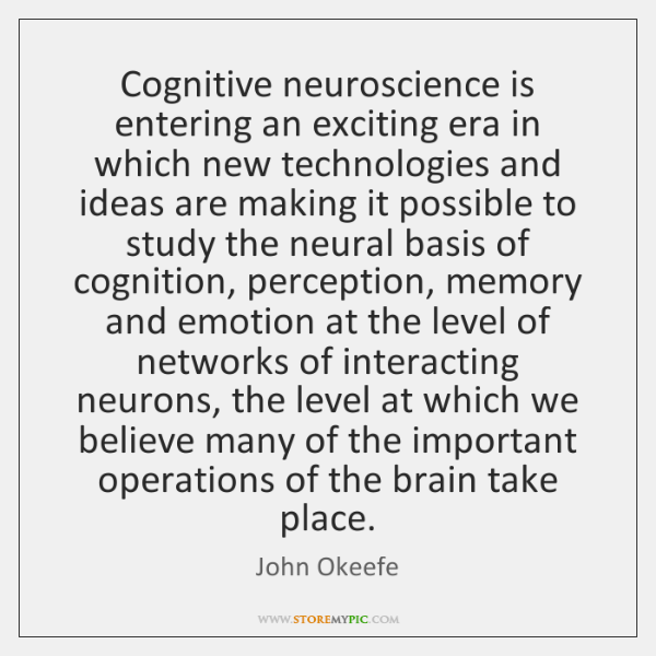 Cognitive neuroscience is entering an exciting era in which new technologies and ...