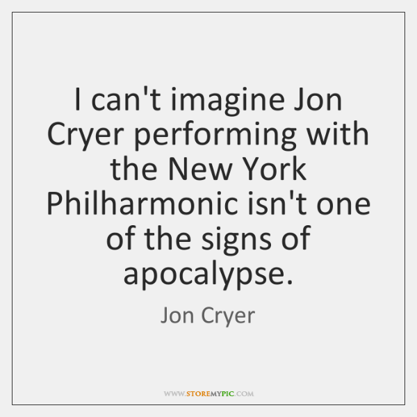 I can't imagine Jon Cryer performing with the New York Philharmonic isn't ...