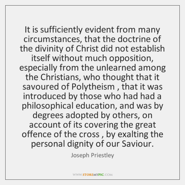 It is sufficiently evident from many circumstances, that the doctrine of the ...