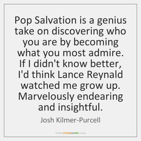 Pop Salvation is a genius take on discovering who you are by ...