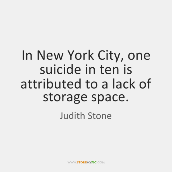In New York City, one suicide in ten is attributed to a ...