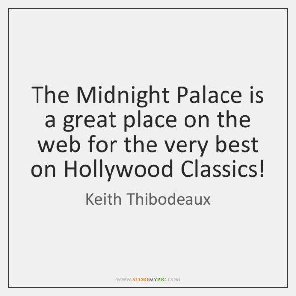 The Midnight Palace is a great place on the web for the ...