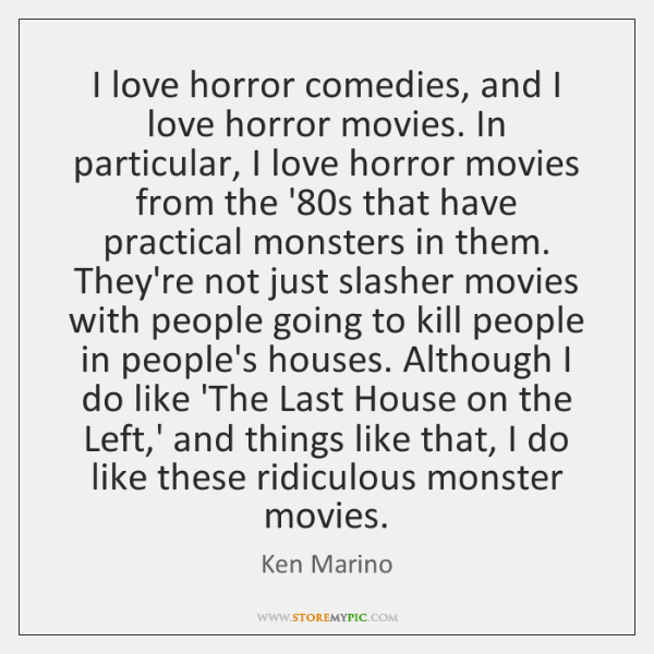 I love horror comedies, and I love horror movies. In particular, I ...