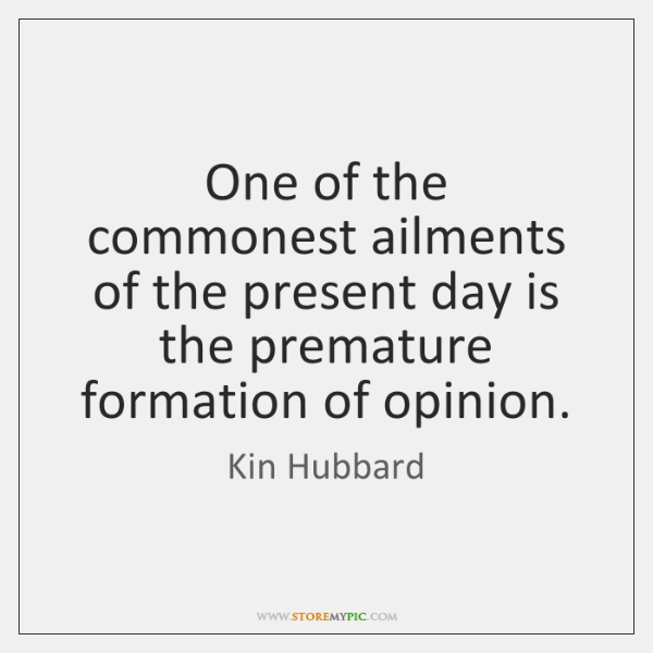 One of the commonest ailments of the present day is the premature ...