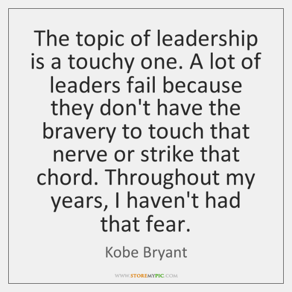 The topic of leadership is a touchy one. A lot of leaders ...