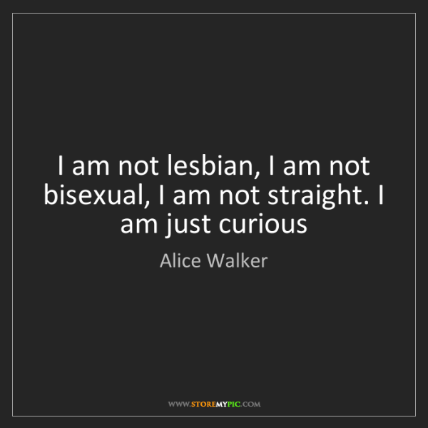 Alice Walker: I am not lesbian, I am not bisexual, I am not straight....