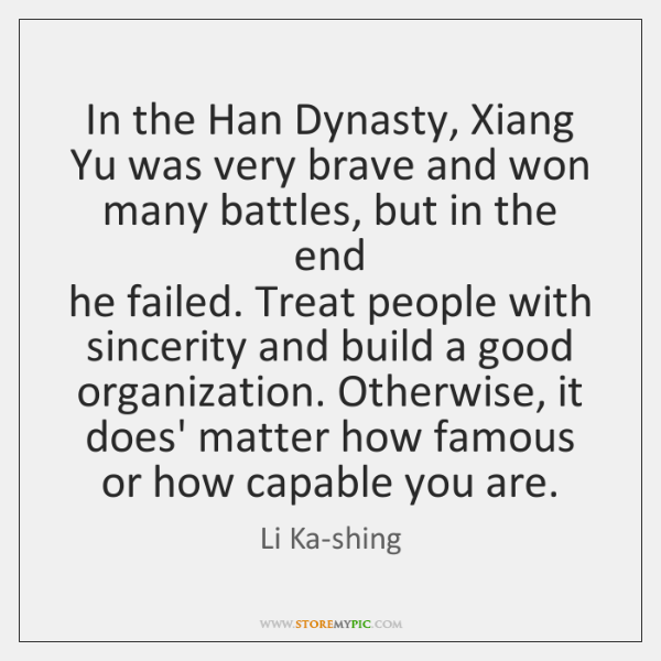 In the Han Dynasty, Xiang  Yu was very brave and won  many ...