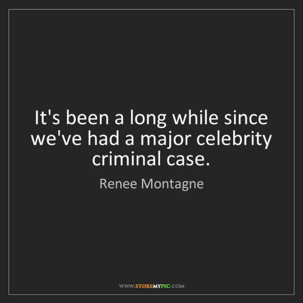 Renee Montagne: It's been a long while since we've had a major celebrity...