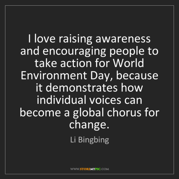 Li Bingbing: I love raising awareness and encouraging people to take...