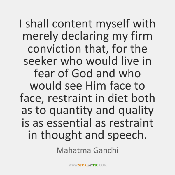 I shall content myself with merely declaring my firm conviction that, for ...