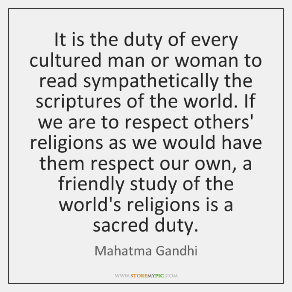 It is the duty of every cultured man or woman to read ...