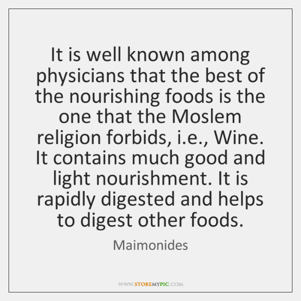 It is well known among physicians that the best of the nourishing ...