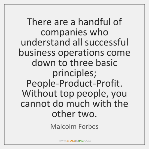 There are a handful of companies who understand all successful business operations ...