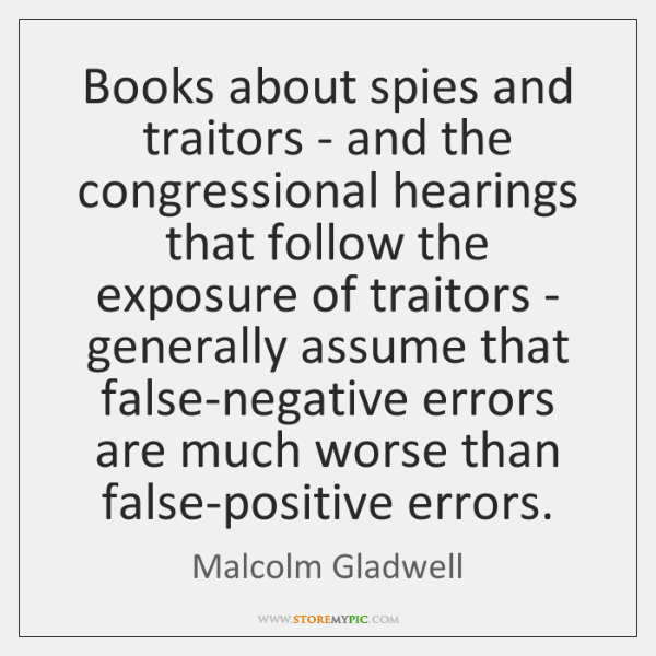 Books about spies and traitors - and the congressional hearings that follow ...