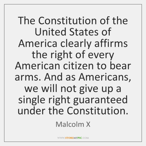 The Constitution of the United States of America clearly affirms the right ...