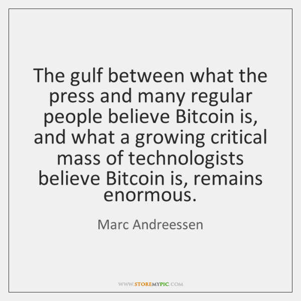 The gulf between what the press and many regular people believe Bitcoin ...