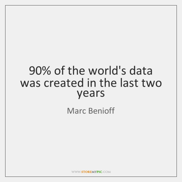 90% of the world's data was created in the last two years