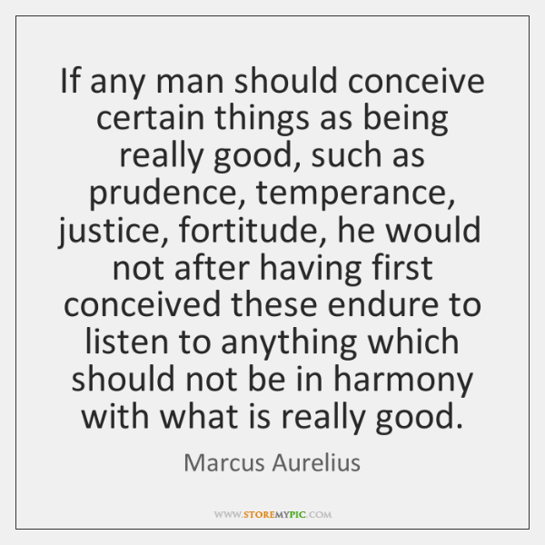 If any man should conceive certain things as being really good, such ...