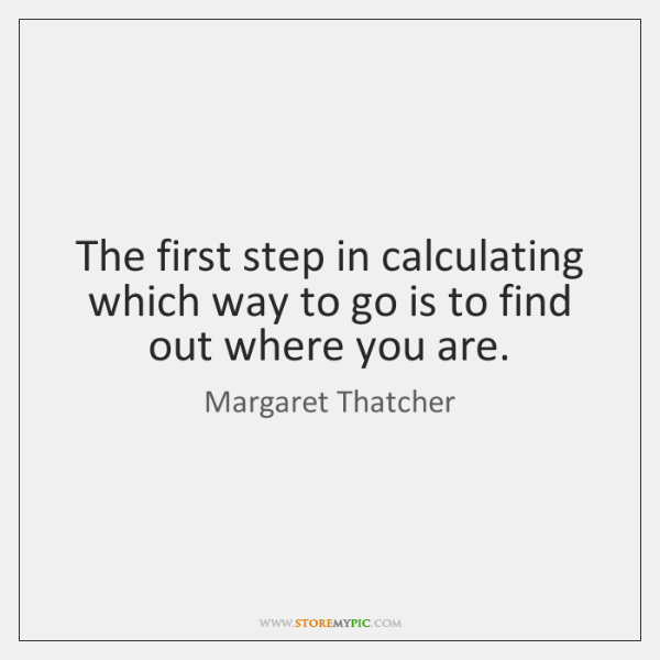 The first step in calculating which way to go is to find ...