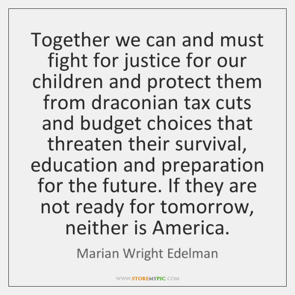 Together we can and must fight for justice for our children and ...