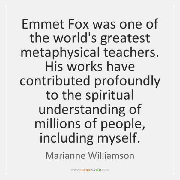 Emmet Fox was one of the world's greatest metaphysical teachers. His works ...