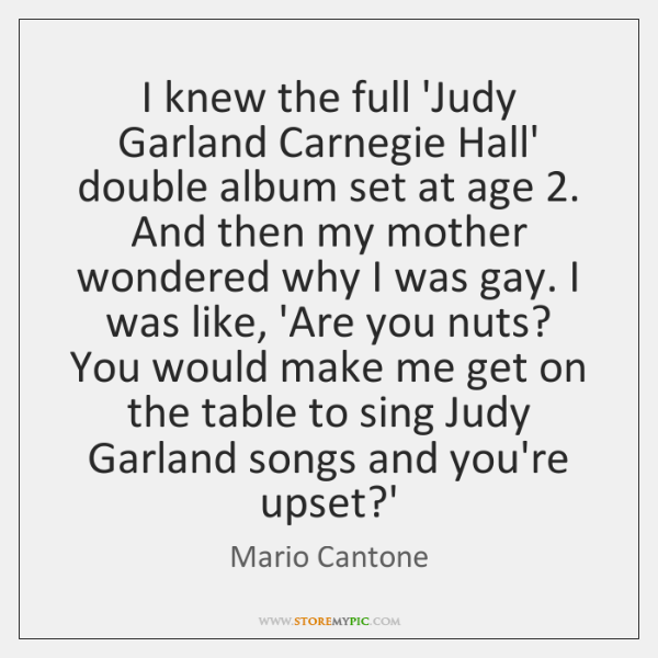 I knew the full 'Judy Garland Carnegie Hall' double album set at ...