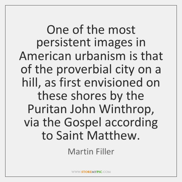 One of the most persistent images in American urbanism is that of ...