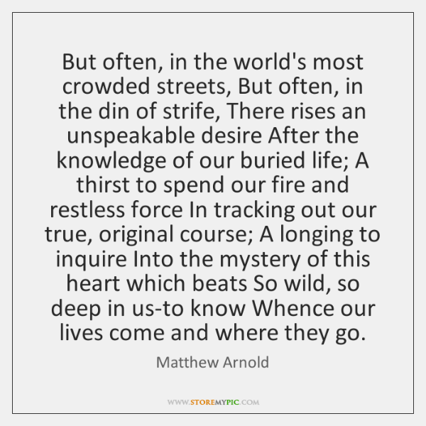 But often, in the world's most crowded streets, But often, in the ...