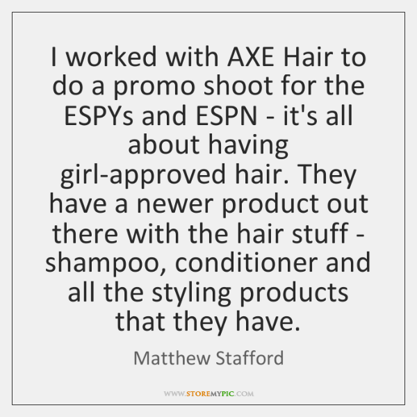 I worked with AXE Hair to do a promo shoot for the ...