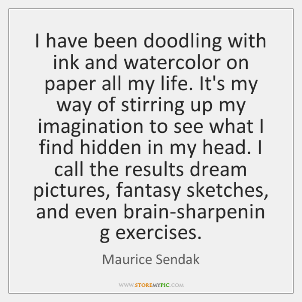 I have been doodling with ink and watercolor on paper all my ...