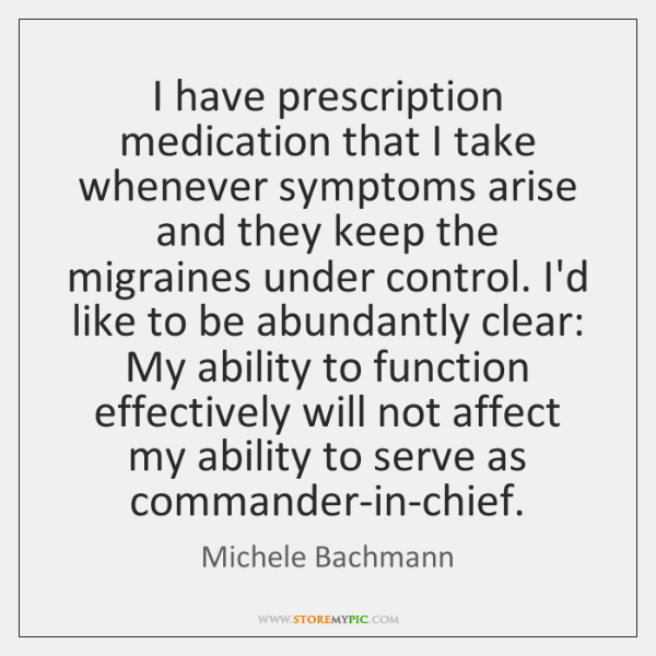 I have prescription medication that I take whenever symptoms arise and they ...