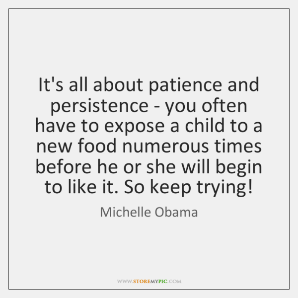 It's all about patience and persistence - you often have to expose ...