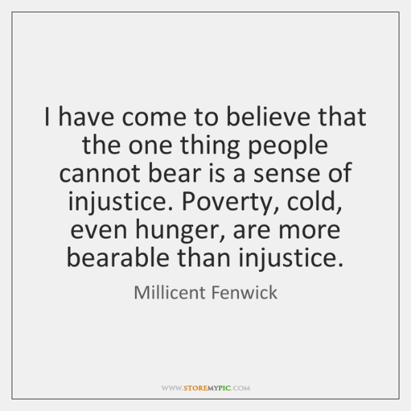 I have come to believe that the one thing people cannot bear ...