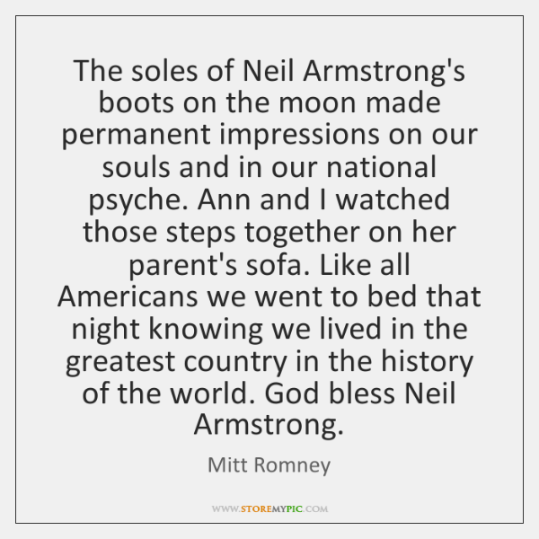 The soles of Neil Armstrong's boots on the moon made permanent impressions ...